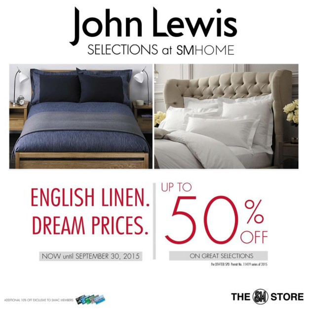 JOHN LEWIS SALE AD UNTIL SEPT 30, 2015